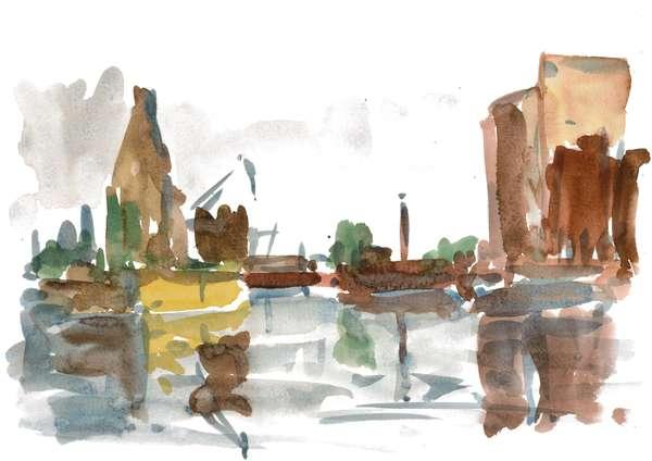 Wolfgang Wähnelt Malerei und Grafik Magdeburger Hafenbilder