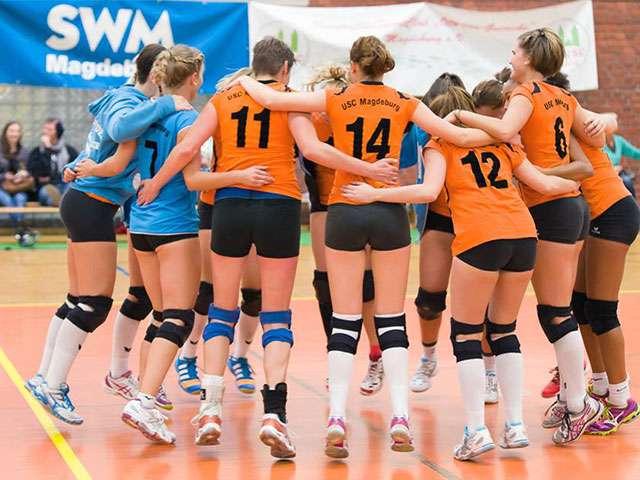 Volleyballdamen siegen gegen Wolfen