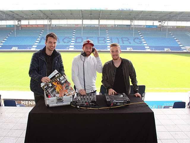 Junimond-DJs: FCM-Fußballer Christian Beck, Nils Butzen und Nico Hammann