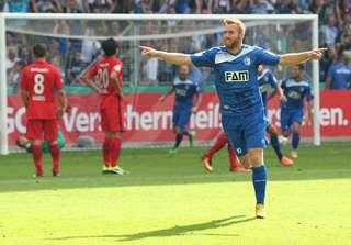 Nico Hammann trifft für den FCM gegen Eintracht Frankfurt