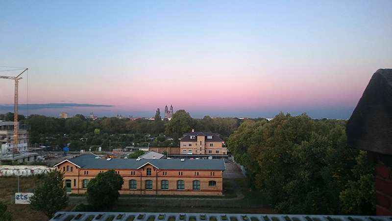 Domblick: Abendlicht überm Dom