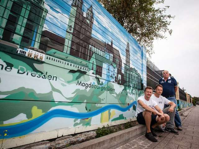 Elbgraffiti  - Tobias Hildebrandt und Gordon Motsch