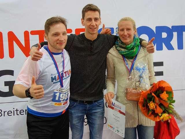 Mission erfolgreich beendet: Martin, Coach Oli und Marisa nach dem Marathon
