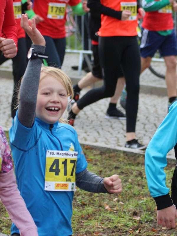 Lola beim Mini-Marathon