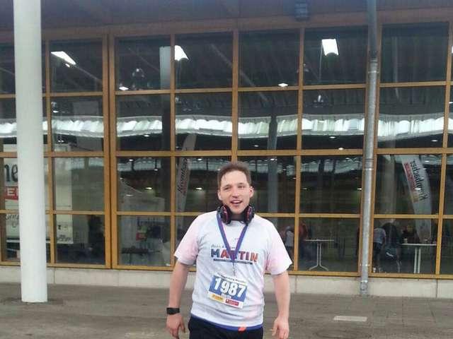 Nach dem Marathon: Martin