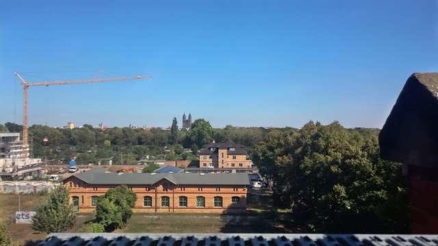 Dom: Blue Sky über Magdeburg