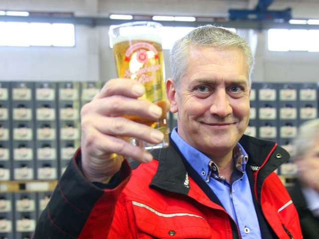 Grundsteinlegung für die neue Sudenburger Brauerei