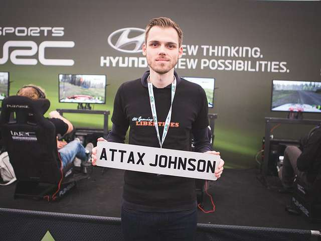 Niklas Krellenberg beim eSports WRC Grand Final