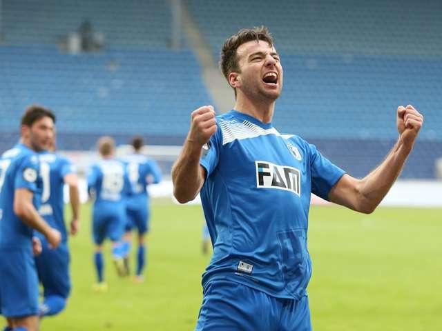 Christian Beck trifft für den 1. FC Magdeburg gegen den VfL Osnabrück