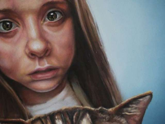 Katzenjammer, Öl auf Leinwand