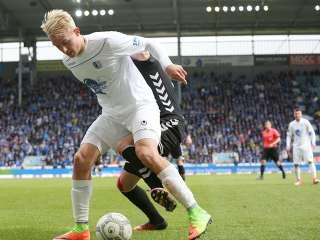 Julius Düker im Spiel gegen SG Sonnenhof Großaspach