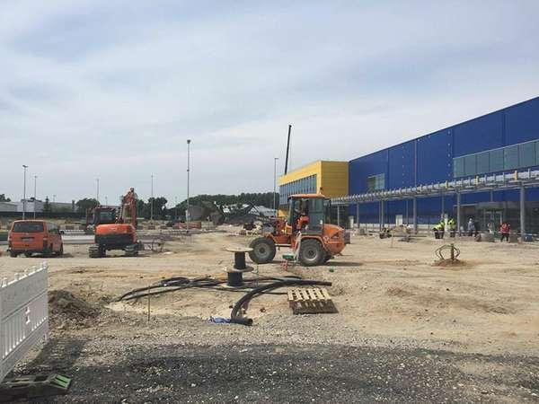 IKEA im Milchhof - aktueller Baufortschritt