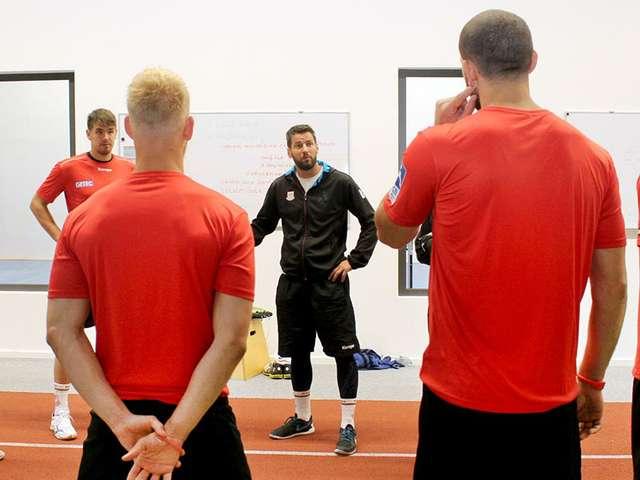 Bennet Wiegert beim Training