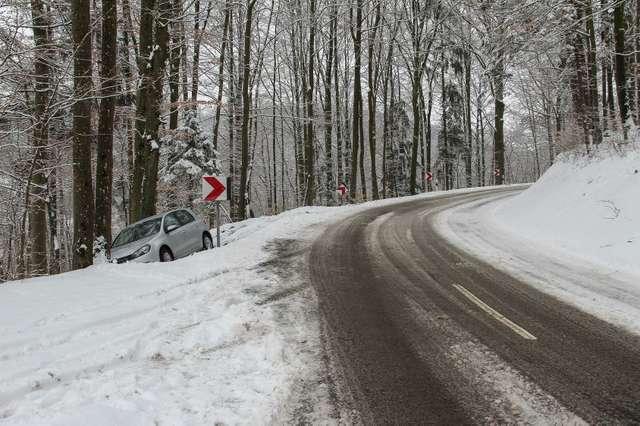 Rutschige Straßen im Winter