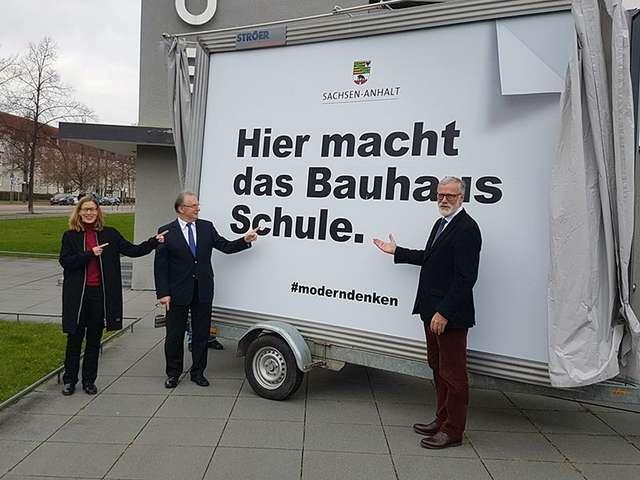 Dachkampagne für Bauhausjubiläum vorgestellt