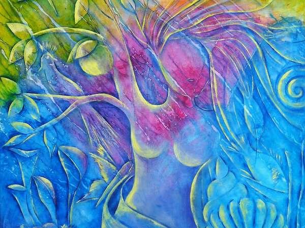 Himmelblau & Sonnengelb von Michaela-Meves-Tauch