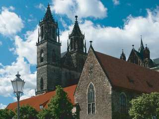 Magdeburger Dom mit Bastion Cleve