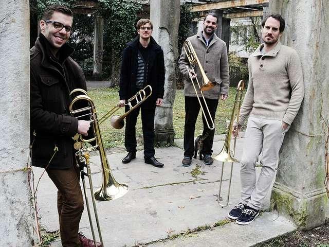 Das Vertigo Trombone Quartet vereinigt vier der kreativsten Posaunisten der deutschen und der Schweizer Szene