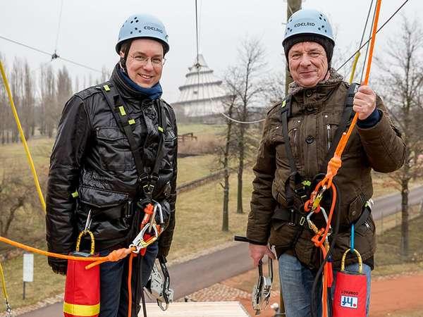 ElbauenZip - Eröffnung mit Steffen Schüller und Dr. Lutz Trümper
