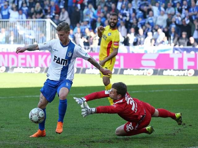 1. FC Magdeburg gewinnt gegen KSC