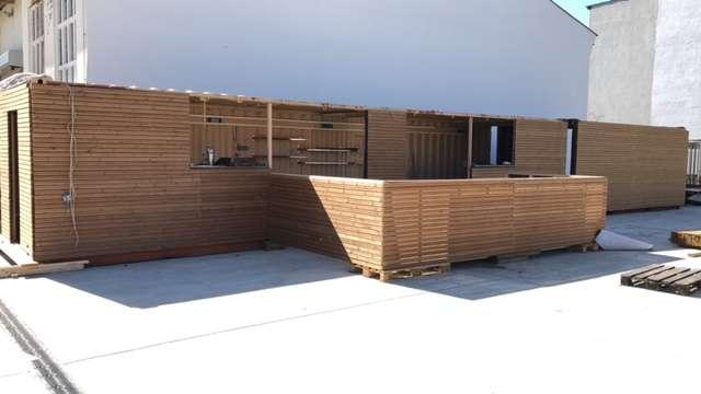 Strandbar Reopening: Neue Container