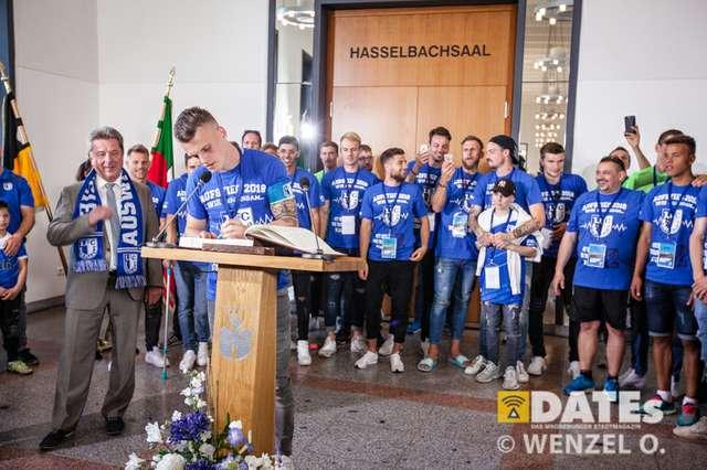 Der 1. FCM beim Rathausempfang