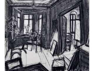 Kohlezeichnung Helmut Biedermann