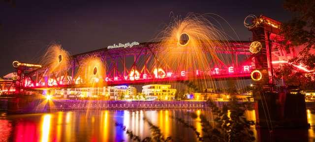Hubbrücke Lichtmalerei