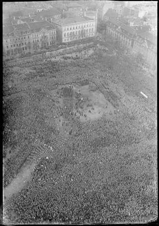 Reichsbannertag auf dem Domplatz