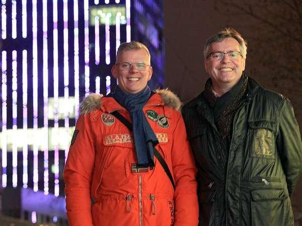 Arno Frommhagen und Frank Wagner im Gespräch zur Innenstadt