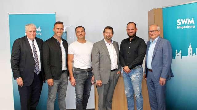 Unterzeichnung Mietvertrag zwischen der SWM und den Restaurantbetreibern Peter Pane