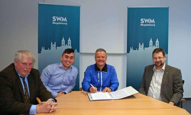 Unterzeichnung Mietvertrag zwischen der SWM und den Shiki Restaurantbetreibern