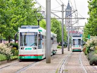 Straßenbahn am Breiten Weg