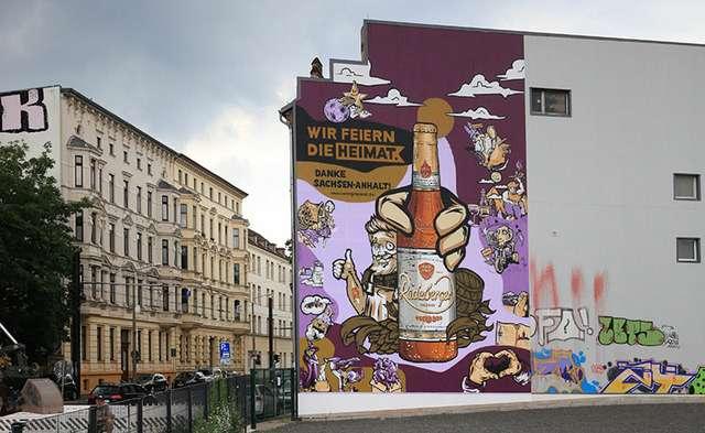Like my Heimat - Graffiti von Strichcode Art