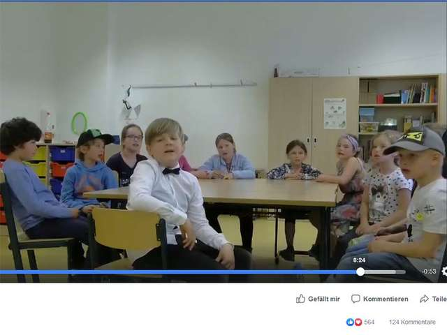 "Screenshot aus dem Video der ""Stadtfeldkids"""