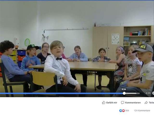 "Screenshot aus dem Video der ""Stadtfeldkids"""