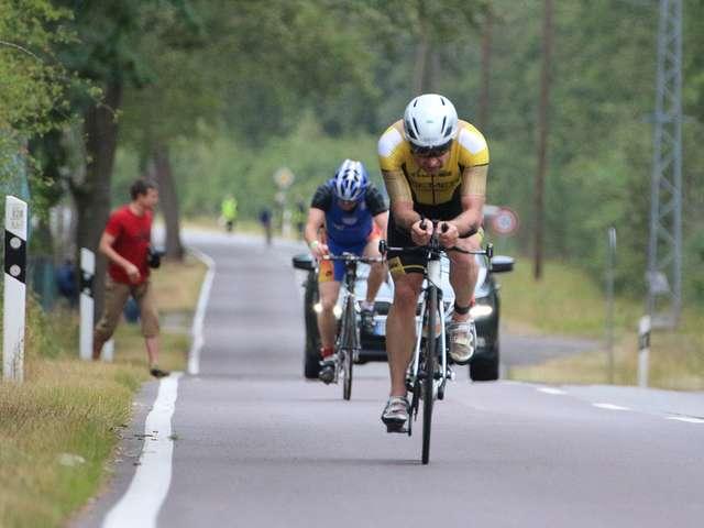 Jörg Röver auf der Radstrecke