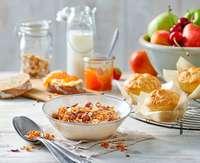 Frühstück in der Africambo Lodge