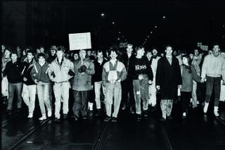 Demonstrationszug im Dezember 1989