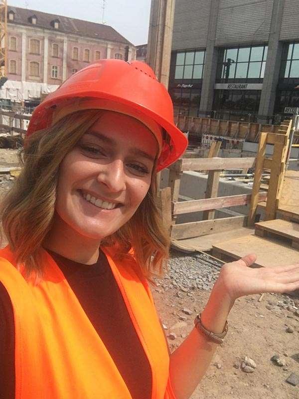 Xenija Richter - die Baustellenreporterin