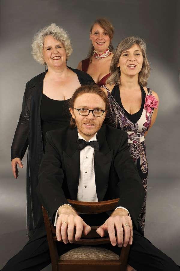 Drei Damen und ein Gentleman