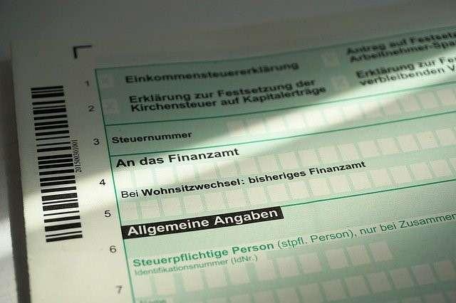 Einkommensteuer-Formular