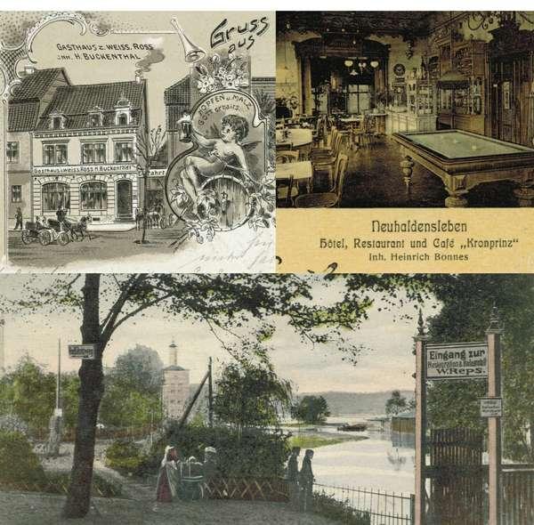 Haldensleber Lokalitäten um 1900
