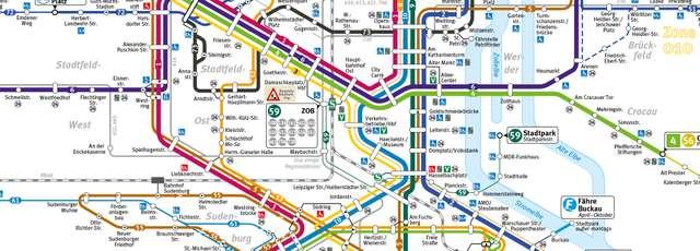 Ausschnitt des neuen Fahrplans der MVB ab Ende August