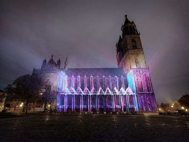 Magdeburg in light