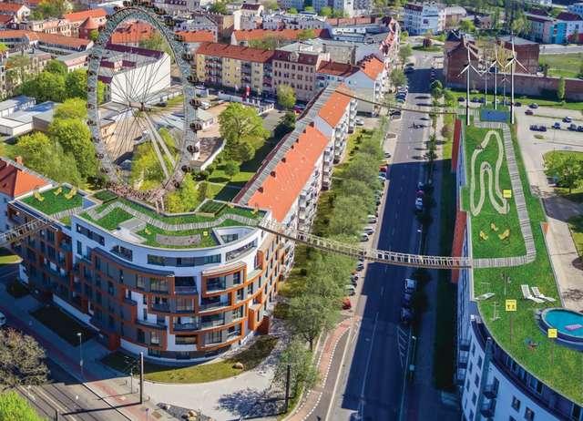Grüne Dachwelt über der Alten Neustadt
