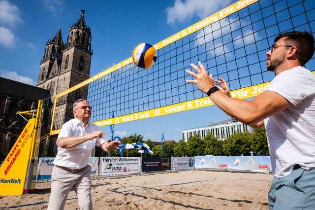 Klaus Zimmermann am Magdeburg Beach