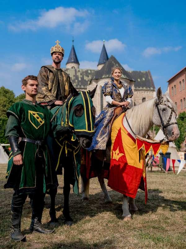 Ritter beim Turnier